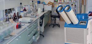 Spot cooler HVAC for pharmacies or hospitals