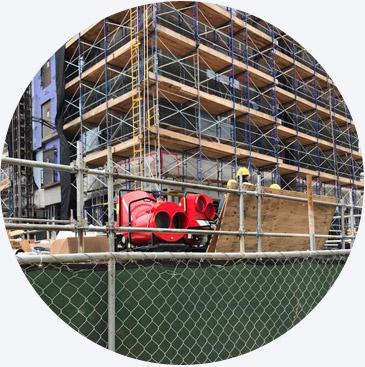 Applications: Construction heater rentals